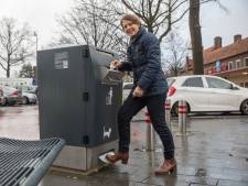 Test-afvalbak op Wilhelminaplein is al slim, en wordt nog veel slimmer