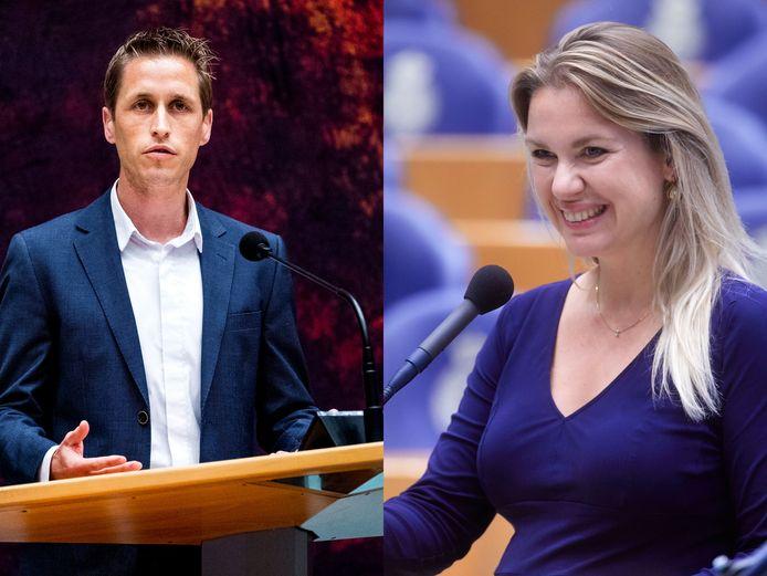 Michiel van Nispen (SP) en Femke Merel van Kooten (Partij voor de Dieren), de meest geschokte Kamerleden van het afgelopen jaar.