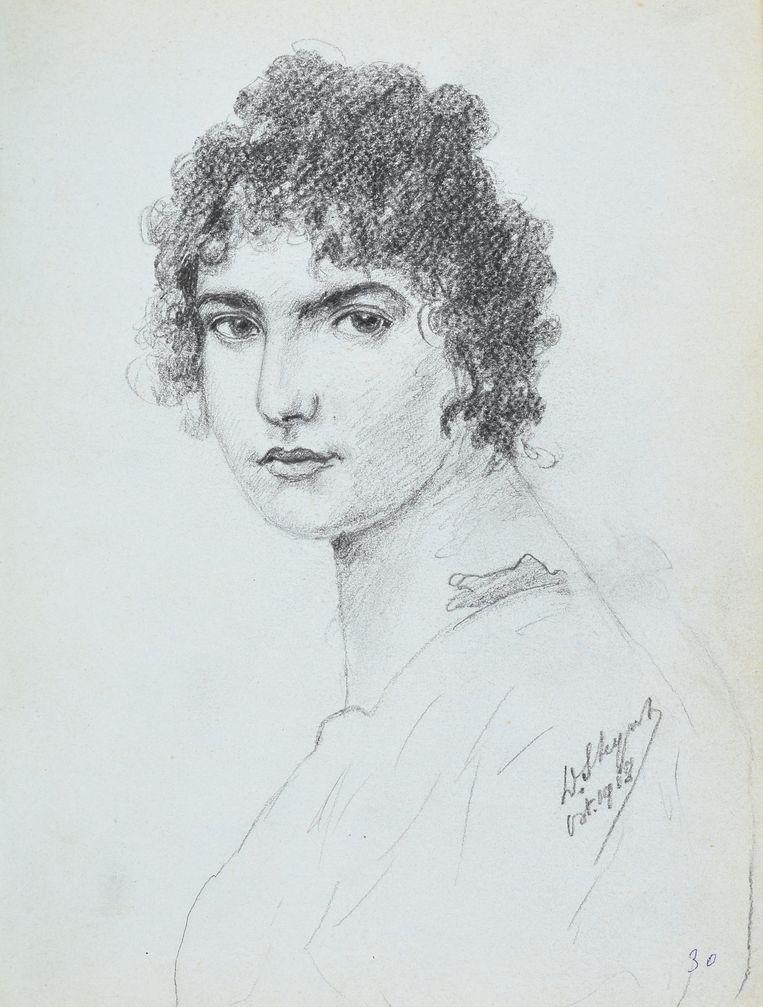Mogelijk een portret van Elsa Steyns.