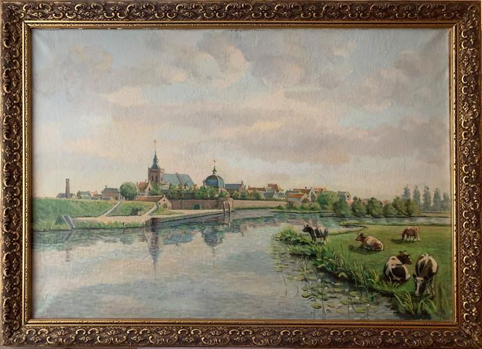Eén van de mooiste plekken van Leerdam, volgens De Kunstplaats Vijfheerenlanden: uitzicht op de Linge en de Zuidwal in Leerdam.
