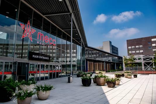 Congrescentrum MECC in Maastricht waar Mertens Bouwbedrijf BV de vernieuwing en uitbreiding deed.