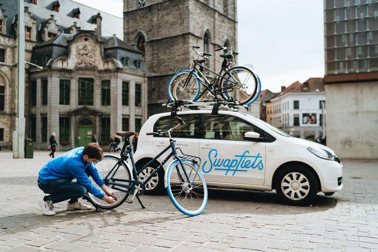 Swapfiets is ondertussen actief in vier Vlaamse steden.