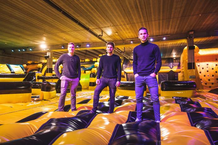 Bram Vander Sype, Bert Vander Sype en Preben Delclef openen samen Jump Sky, het enigste oplaasbaar park in België.