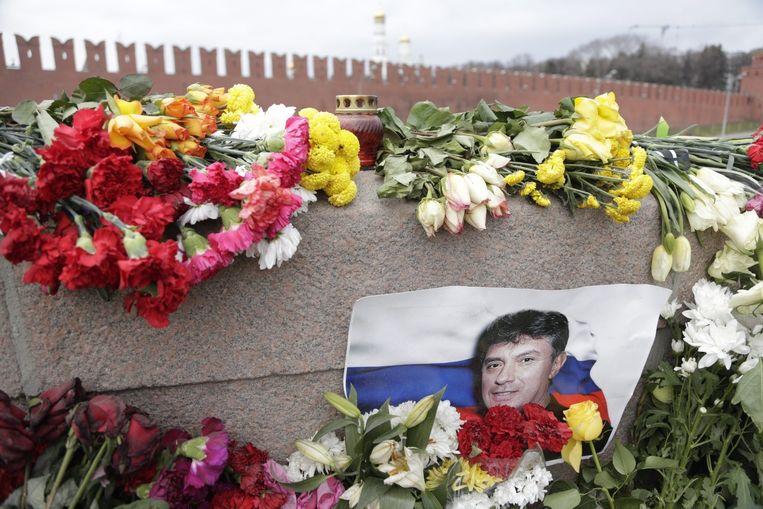 Portret van de Russische oppositieleider Boris Nemtsov Beeld epa