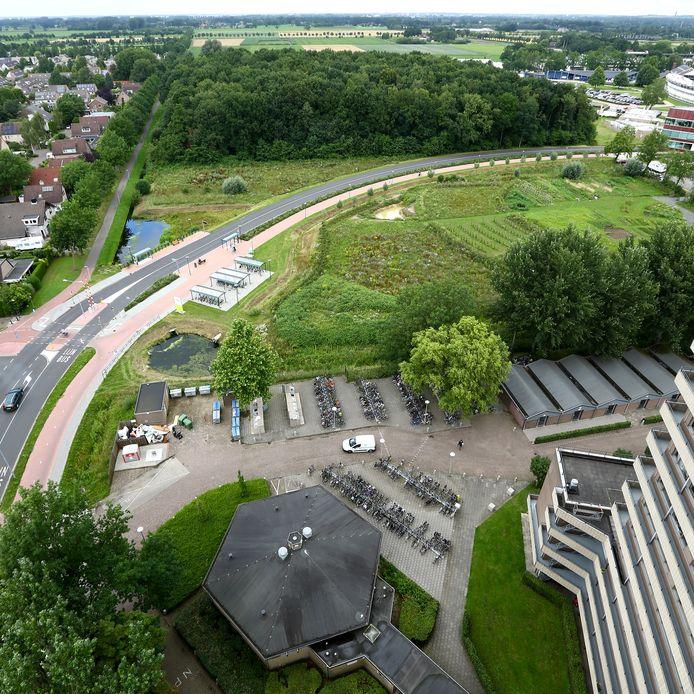 Uitzicht op het Dassenbos, dat binnen het zoekgebied ligt voor een mogelijke campusroute.