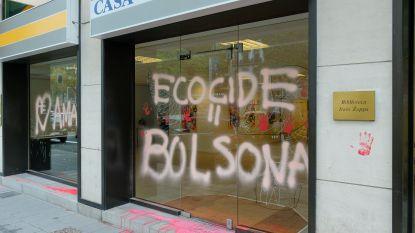 Klimaatactiegroep eist bekladding van Braziliaanse ambassade op