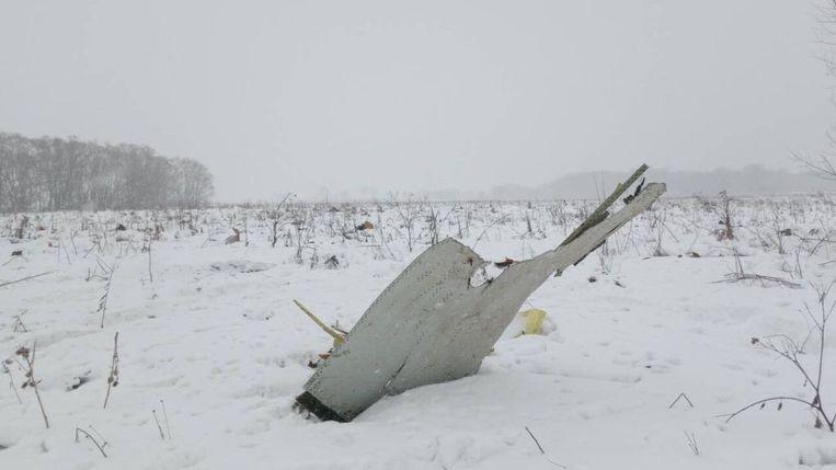 Een brokstuk van vlucht 703 van luchtvaartmaatschappij Saratov Airlines Beeld REUTERS