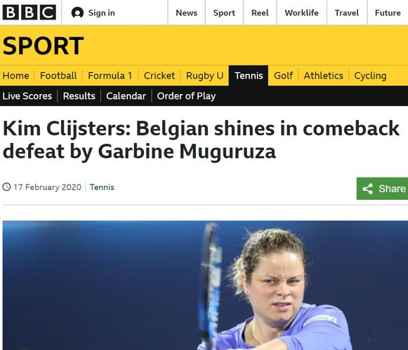 BBC over Clijsters.