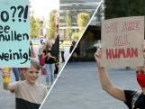 Velen bij Moria-demonstratie op Jaarbeursplein