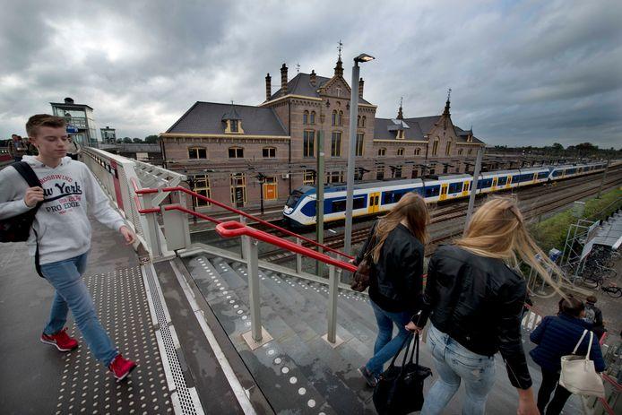 Op het station in Geldermalsen stoppen nu alleen sprinters. De gemeenten in het rivierengebied willen graag dat ook de intercity tussen Den Bosch en Utrecht hier gaat stoppen.  Foto William Hoogteyling.