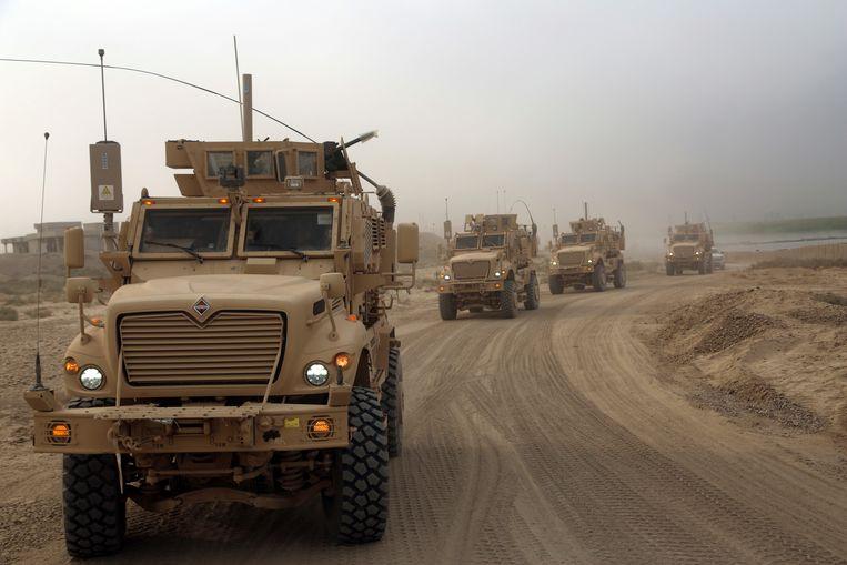 Iraakse veiligheidstroepen trekken Qayara binnen na het verdrijven van Islamitische Staat.