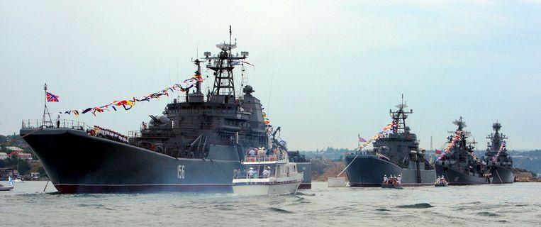 Schepen van de Russische Zwarte Vloot. Beeld epa