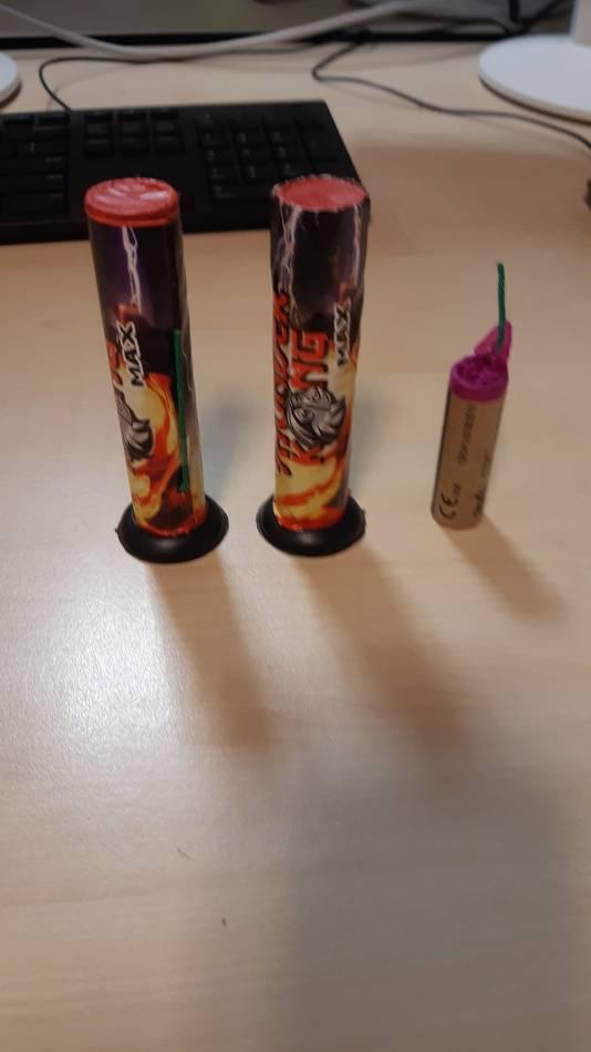 Het vuurwerk dat in beslag is genomen in Tiel.
