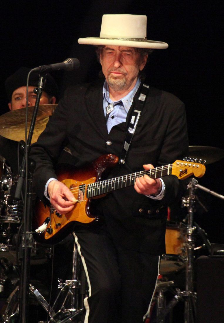 Bob Dylan on stage in 2011. Beeld epa