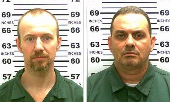 De gevaarlijke criminelen David Sweat en Richard Matt.