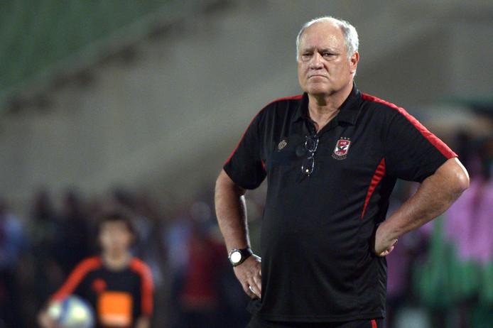 Martin Jol in 2016 als coach van de Egyptische topclub Al Ahly.