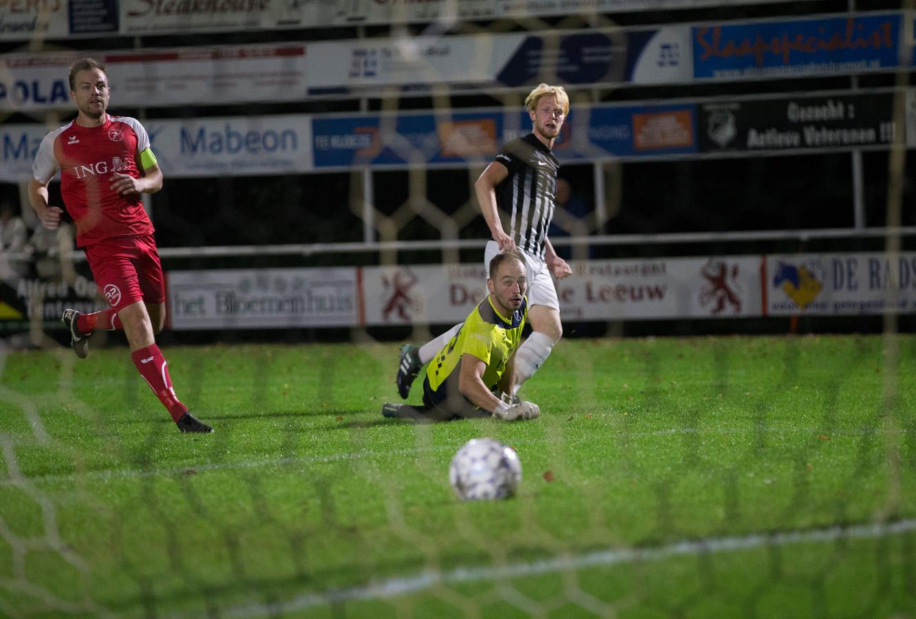 Wout Blasman scoorde de 1-1 tegen Meerssen.