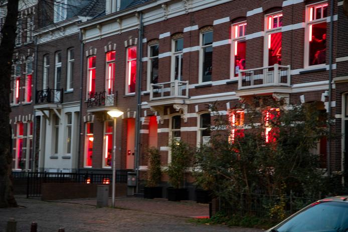 Raampanden aan de Nieuwe Markt in Nijmegen.