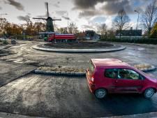 Alvast een rondje rijden over de nieuwe rotonde bij de molen in Kaatsheuvel