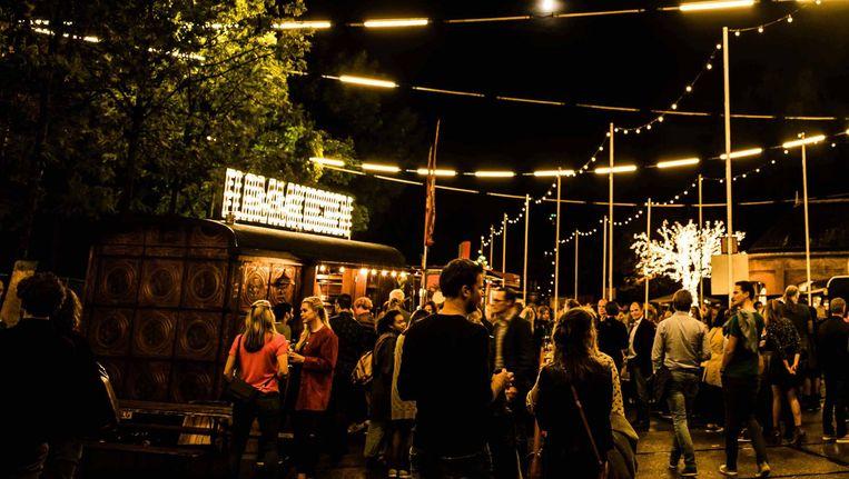 Een voorgaande editie van het Amsterdam Wine Festival Beeld -