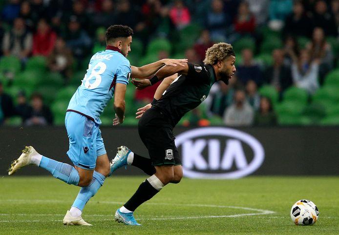 Tonny Vilhena boekte met Krasnodar een belangrijke zege op Trabzonspor (3-1).