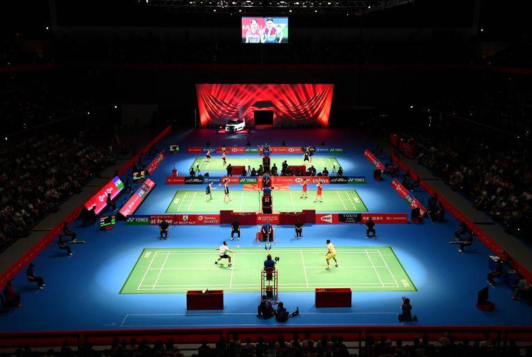 Het Musashino Forest Sport Plaza, waar badminton en schermen zal plaatsvinden. Beeld Toshifumi Kitamura / AFP