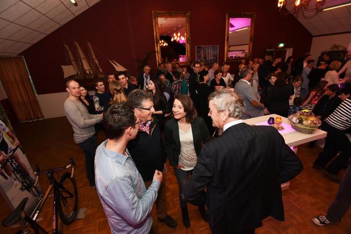 Marianne Vos vorig jaar tijdens het Mrianne Vos Wielercafé in Wijk en Aalburg.