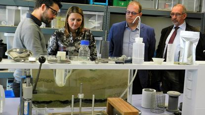Gwendolyn Rutten bezoekt wetenschapspark