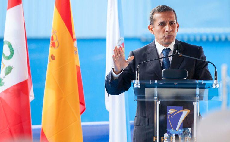 De Peruviaanse president Ollanta Humala.
