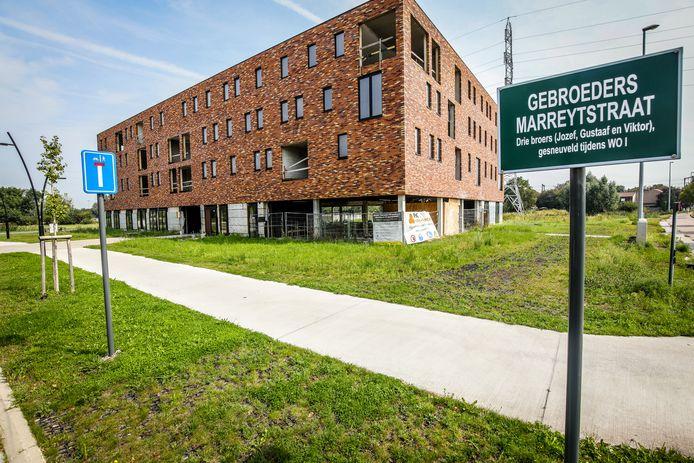 Dieven braken appartementen in aanbouw binnen in de Gebroeders Marreytstraat.