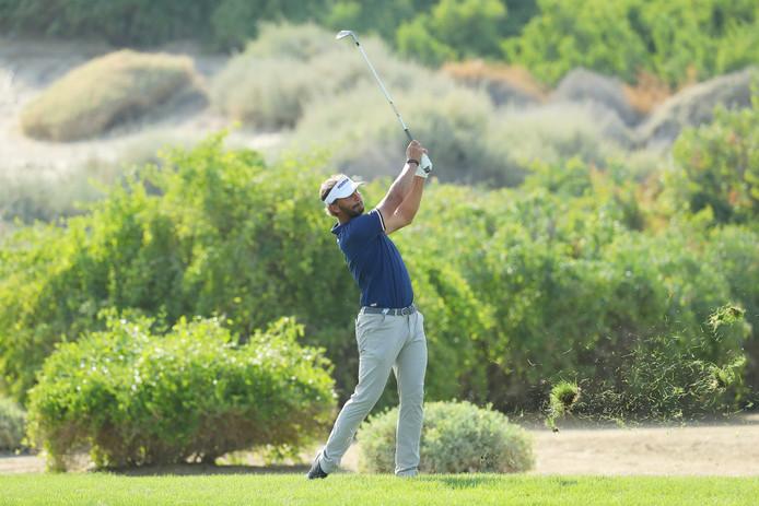 Joost Luiten op de slotdag van het Abu Dhabi HSBC Golf Championship in de Verenigde Arabische Emiraten.