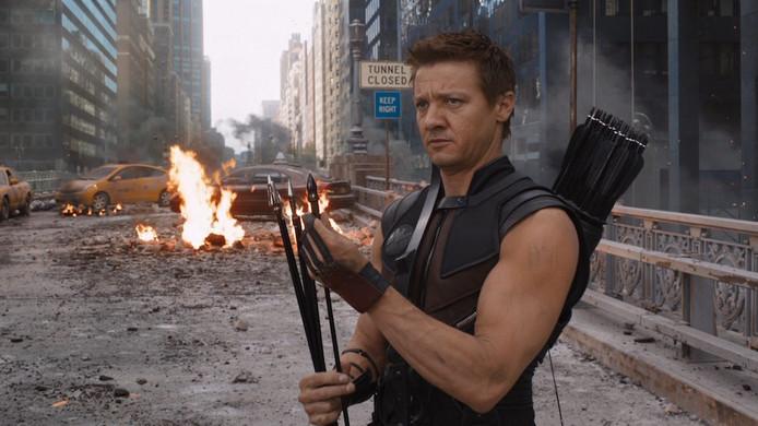 Jeremy Renner als Hawkeye.