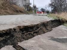Aardscheur eet Italiaans dorpje op