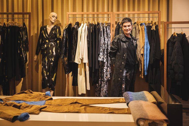 Lut Soens in haar kledingszaak Suite in de Hoogpoort
