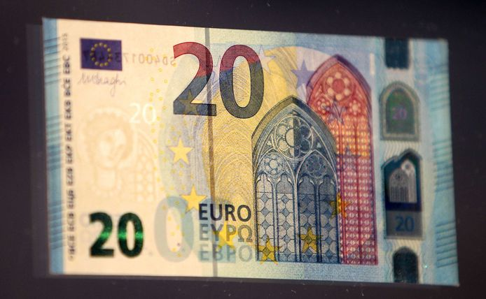 Een biljet van 20 euro