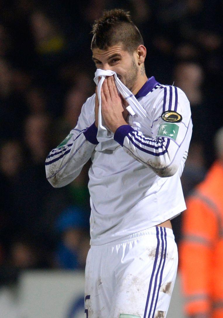 Aleksandar Mitrovic na z'n gemiste penalty.