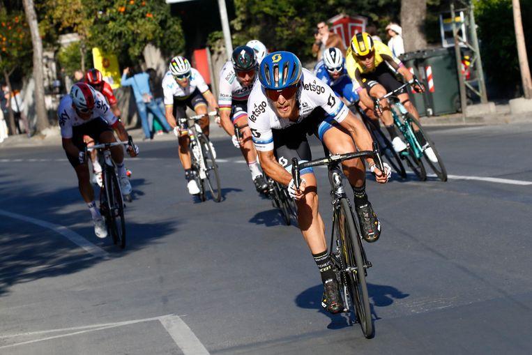 Europees kampioen Matteo Trentin.