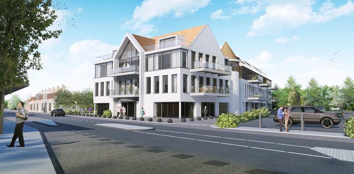 Het voormalige pand van de Rabobank in Sluis wordt getransformeerd tot appartementencomplex.