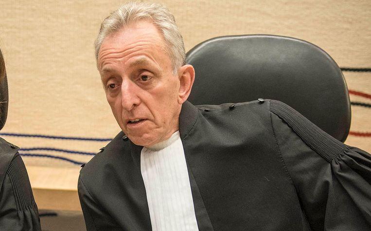 Rechtbankvoorzitter Frank Wieland tijdens een pro formazitting in mei vorig jaar. Beeld anp