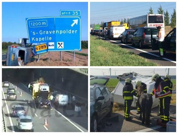Vier ongelukken op de A58 in zes dagen.