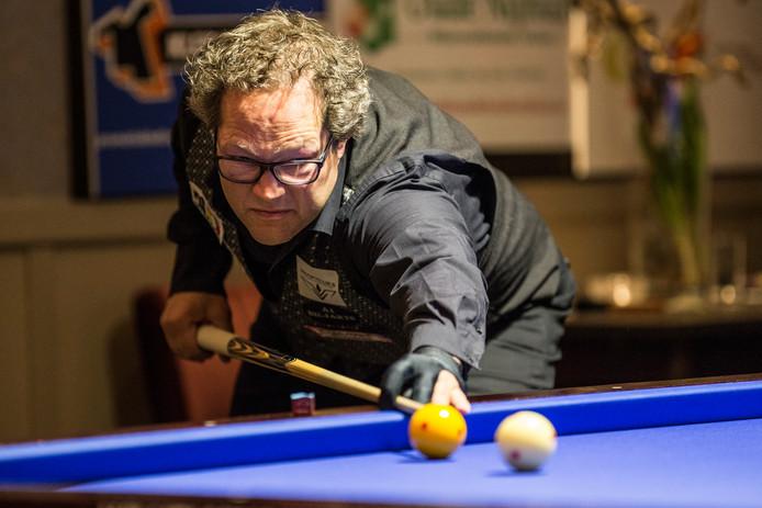 Addy Wienk won zijn partij tegen HCR Prinsen, maar A1 Biljarts werd wel uitgeschakeld in de beker.
