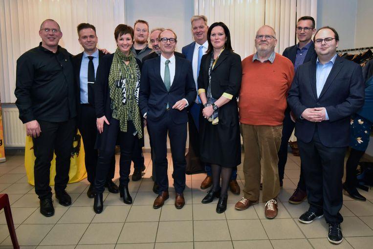 Ook minister Ben Weyts tekende present op de nieuwjaarsreceptie van N-VA Holsbeek.