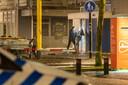 De plofkraak bij een filiaal van de Rabobank in Amersfoort, die veel schade opleverde.