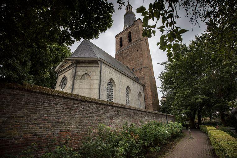 In Sint-Oedenrode, waar twee kerken leegstaan, hebben studenten van de Amsterdamse academie van bouwkunst ideeën ontwikkeld.  Beeld Werry Crone