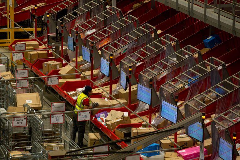 Het postsorteercentrum van Bpost in Brussel.