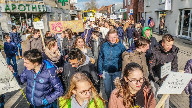 Middelbare school Spes Nostra in Kuurne heeft net een eigen klimaatmars gehouden.