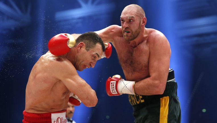 Tyson Fury haalt uit naar Wladimir Klitschko. Beeld reuters