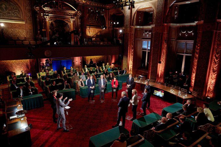 Lijsttrekkers uit de senaat voeren tv-debat Beeld anp