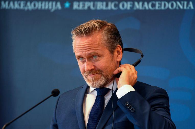 De Deense minister van Buitenlandse Zaken Anders Samuelsen.