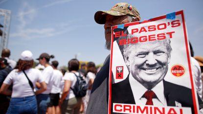 Trump bezoekt Dayton en El Paso na schietpartijen, maar wordt ontvangen met veel protest